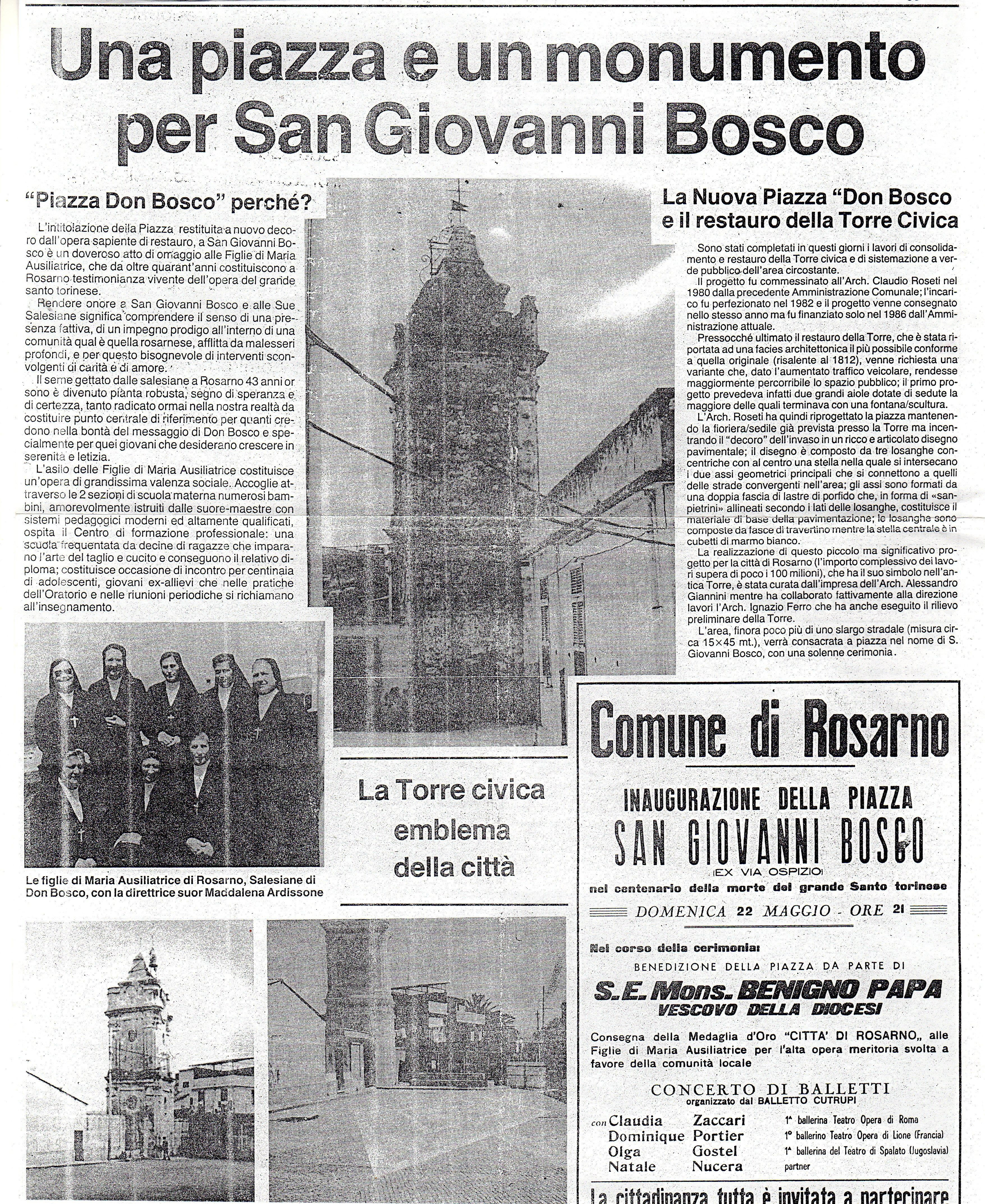 Piazza S.Giovanni Bosco. Noi siamo i nostri luoghi.